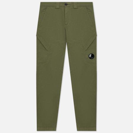 Мужские брюки C.P. Company Stretch Sateen Utility, цвет зелёный, размер 48