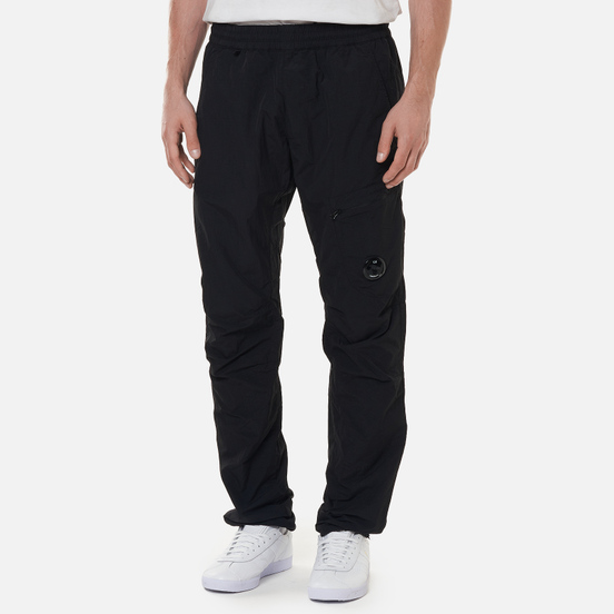 Мужские брюки C.P. Company Flatt Nylon Lens Track Black