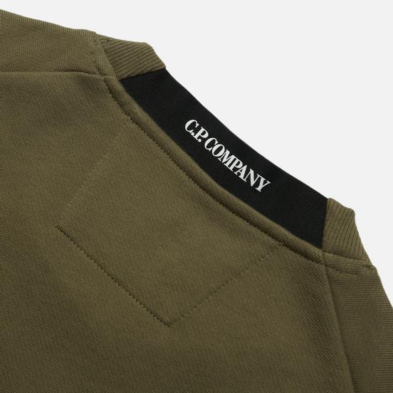 Мужская толстовка C.P. Company Diagonal Raised Fleece Crew Neck Stone Grey