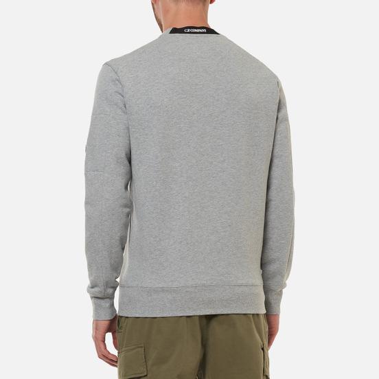 Мужская толстовка C.P. Company Diagonal Raised Fleece Crew Neck Grey Melange