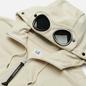 Мужская толстовка C.P. Company Diagonal Raised Fleece Goggle Hoodie Sandshell фото - 1