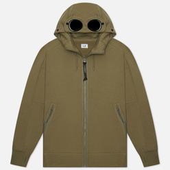 Мужская толстовка C.P. Company Diagonal Raised Fleece Goggle Hoodie Stone Grey