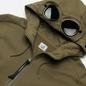 Мужская толстовка C.P. Company Diagonal Raised Fleece Goggle Hoodie Stone Grey фото - 1