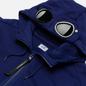 Мужская толстовка C.P. Company Diagonal Raised Fleece Goggle Hoodie Blueprint фото - 1