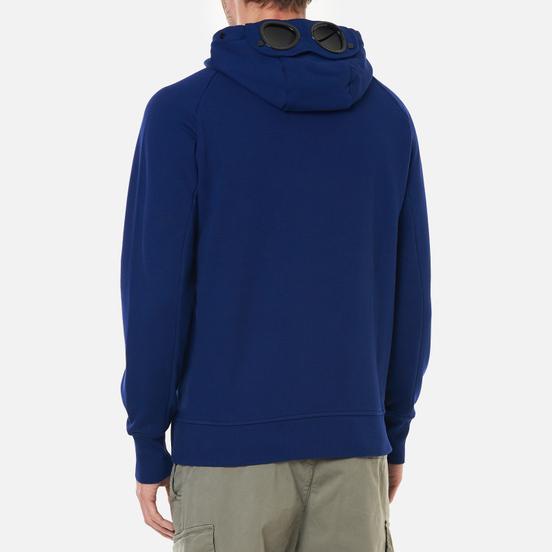 Мужская толстовка C.P. Company Diagonal Raised Fleece Goggle Hoodie Blueprint