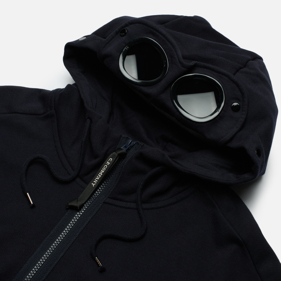 Мужская толстовка C.P. Company Diagonal Raised Fleece Goggle Hoodie Total Eclipse