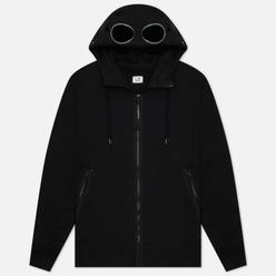 Мужская толстовка C.P. Company Diagonal Raised Fleece Goggle Hoodie Black