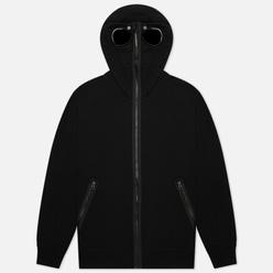 Мужская толстовка C.P. Company Diagonal Raised Fleece Explorer Goggle Hoodie Black