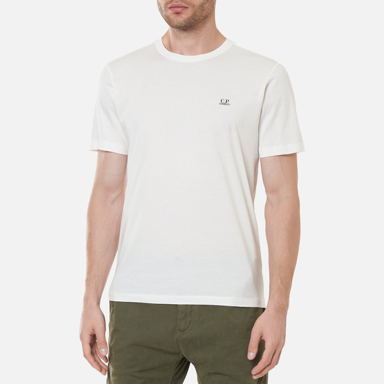 Мужская футболка C.P. Company Jersey Goggle Print Gauze White