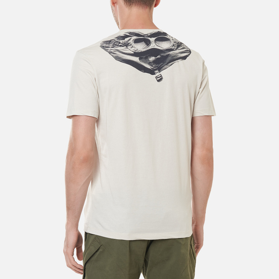 Мужская футболка C.P. Company Jersey Goggle Print Sandshell