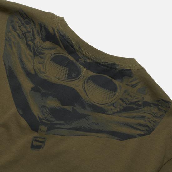 Мужская футболка C.P. Company Jersey Goggle Print Stone Grey
