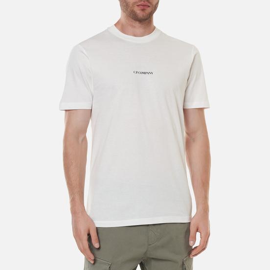 Мужская футболка C.P. Company Jersey Compact Print Gauze White