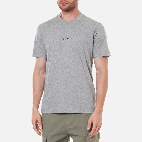 Мужская футболка C.P. Company Jersey Compact Print Grey Melange