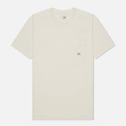 Мужская футболка C.P. Company Open-End Jersey Logo Gauze White