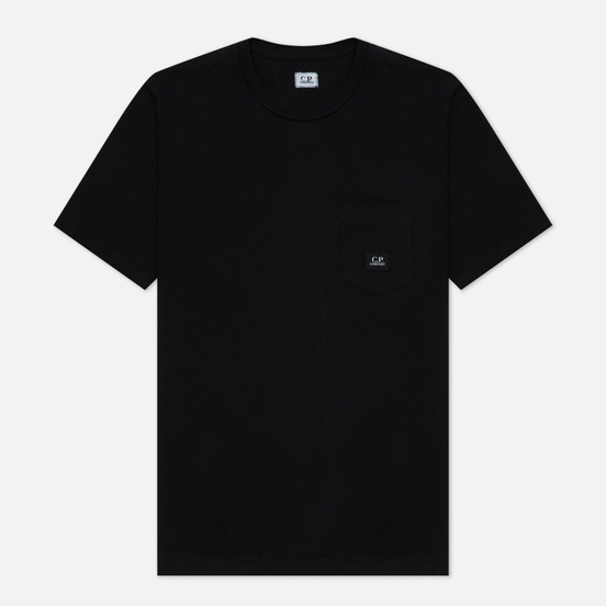 Мужская футболка C.P. Company Open-End Jersey Logo Black