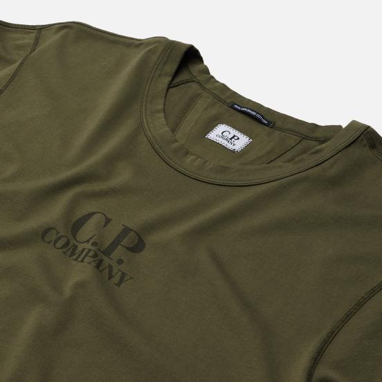 Мужская футболка C.P. Company Mercerized Jersey Stone Grey