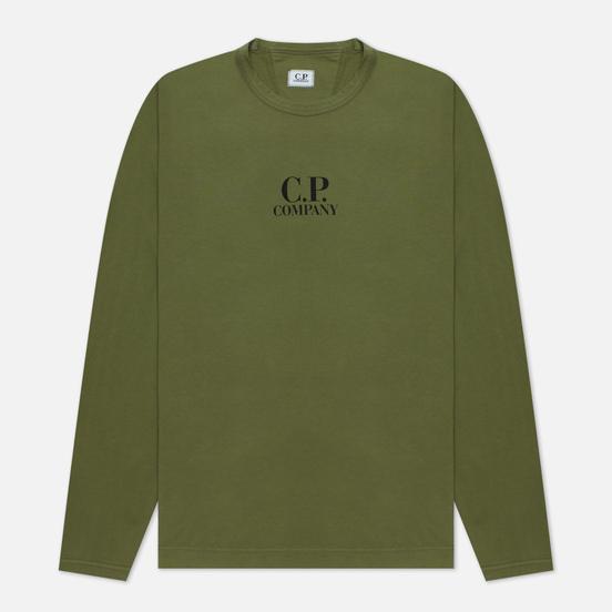 Мужской лонгслив C.P. Company Brushed Jersey Stone Grey