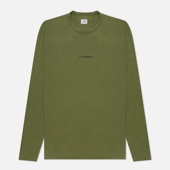 Мужской лонгслив C.P. Company Brushed Jersey Logo Stone Grey