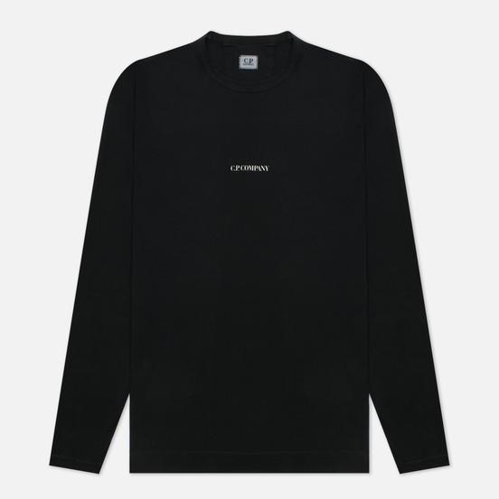Мужской лонгслив C.P. Company Brushed Jersey Logo Black