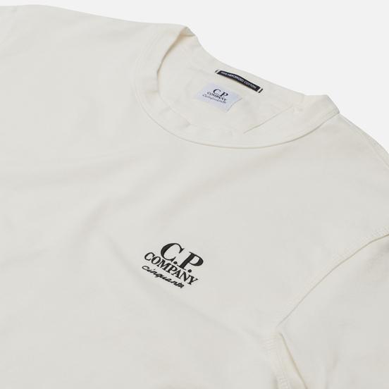 Мужская футболка C.P. Company Mercerized Jersey Garment Dyed Gauze White