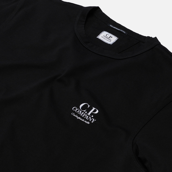 Мужская футболка C.P. Company Mercerized Jersey Garment Dyed Black