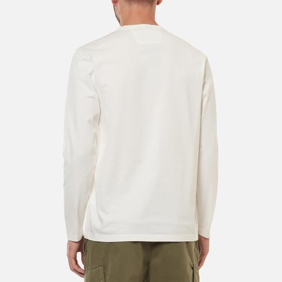 Мужской лонгслив C.P. Company Mercerized Jersey Garment Dyed Gauze White