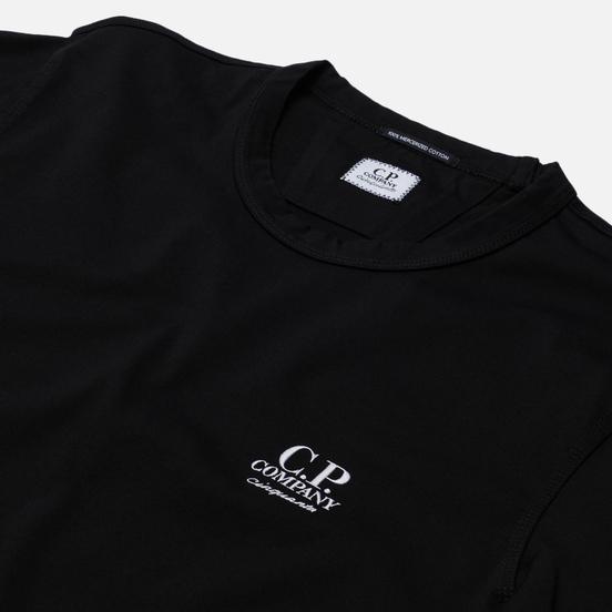 Мужской лонгслив C.P. Company Mercerized Jersey Garment Dyed Black