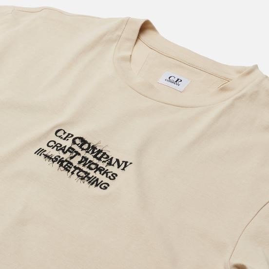 Мужская футболка C.P. Company Jersey Craftworks Back Print Sandshell