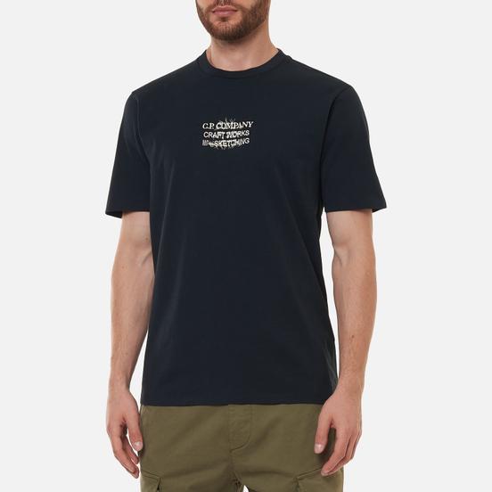 Мужская футболка C.P. Company Jersey Craftworks Back Print Black