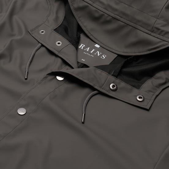Мужская куртка дождевик Rains Long Jacket Charcoal