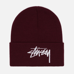 Шапка Stussy Big Stock Cuff Burgundy