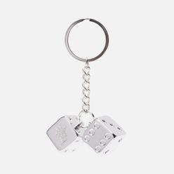 Брелок для ключей Stussy Metal Dice Silver