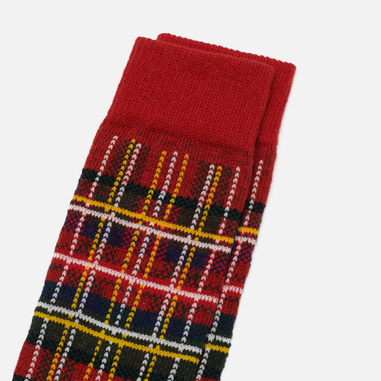 Носки Anonymous Ism Wool Check Crew Red