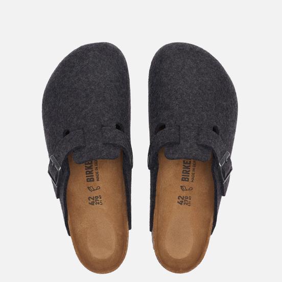 Мужские сандалии Birkenstock Boston Wool Anthracite