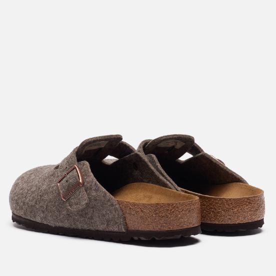 Мужские сандалии Birkenstock Boston Wool Cacao