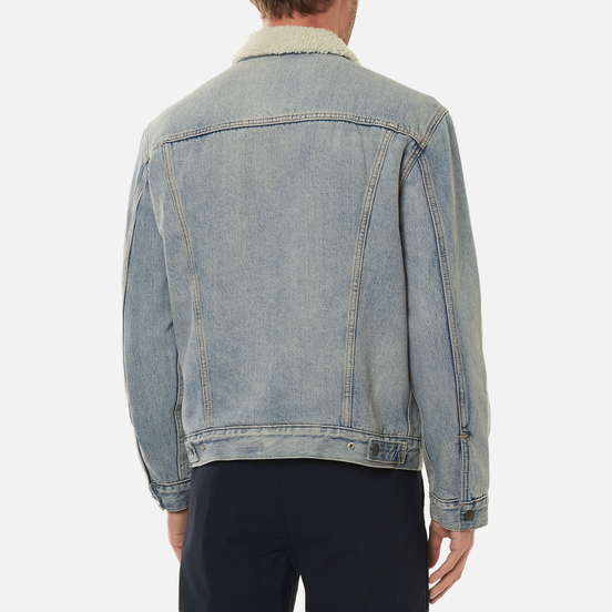 Мужская джинсовая куртка Levi's Type III Sherpa Trucker Stonebridge/Light Wash