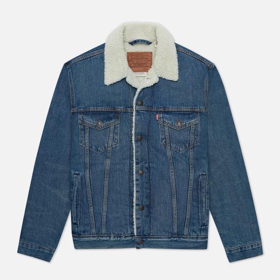 Мужская джинсовая куртка Levi's The Sherpa Trucker Fable/Medium Wash