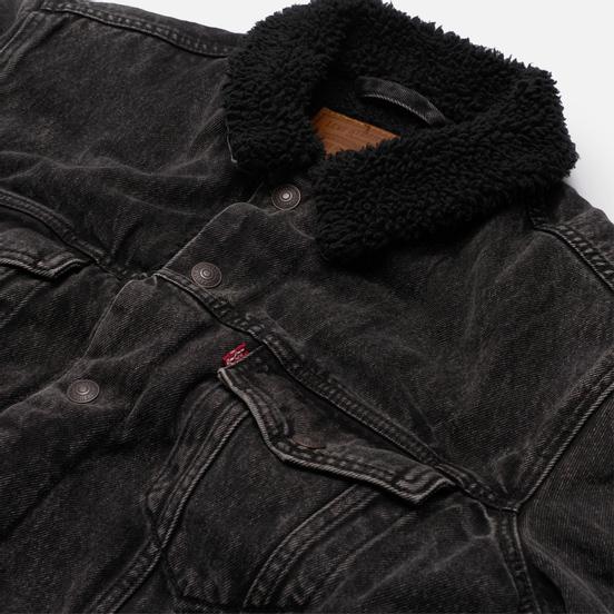 Мужская джинсовая куртка Levi's Type III Sherpa Trucker Roadster Sherpa
