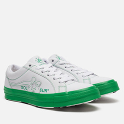 Кеды Converse x Tyler The Creator Golf le Fleur One Star White/Antique White/Green
