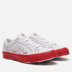Кеды Converse x Tyler The Creator Golf le Fleur One Star White/Antique White/Racing Red