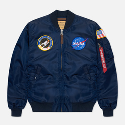 Мужская куртка бомбер Alpha Industries Nasa MA-1 VF Replica Blue