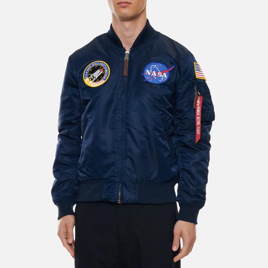 Мужская куртка бомбер Alpha Industries Nasa MA-1 VF Replica Blue