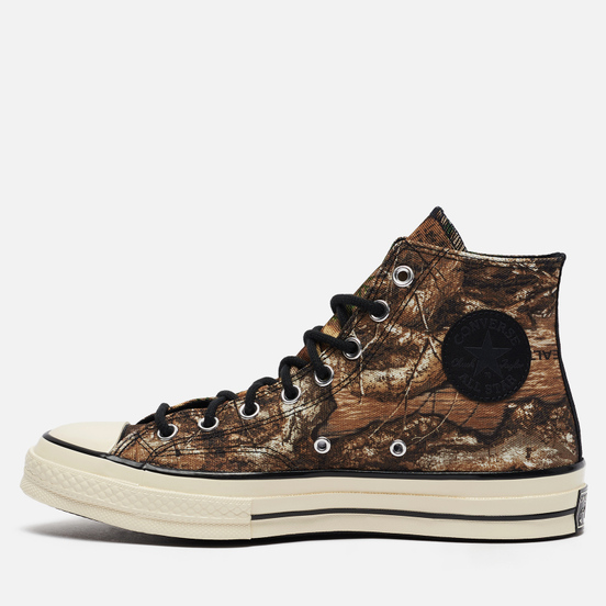 Мужские кеды Converse x Realtree EDGE Chuck 70 High Black/Saffron Yellow/White