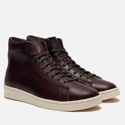 Мужские кеды Converse x Horween Pro Leather Hi Tobacco Brown