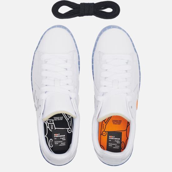 Мужские кеды Converse x Rokit Pro Leather Ox White/White/Oriole