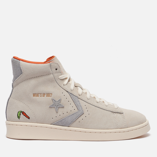 Кеды Converse x Bugs Bunny Pro Leather Hi Natural Ivory/Egret/Grey