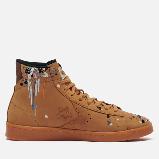 Кеды Converse x Bandulu Pro Leather High Flux/Gum Light Honey/Brown