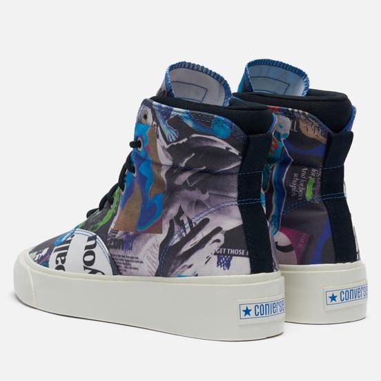 Мужские кеды Converse Skid Grip Hi Beat The World Egret/Multi/Black