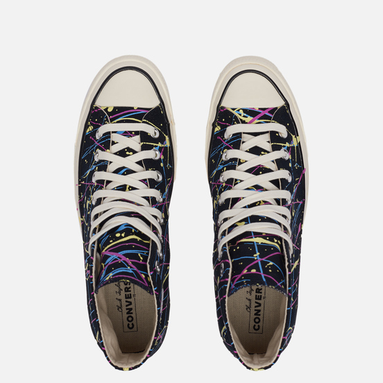 Кеды Converse Chuck 70 Hi Archive Paint Splatter Black/Hyper Magenta/Egret
