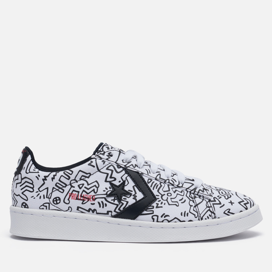 Кеды Converse x Keith Haring Pro Leather Low White/Black/Red